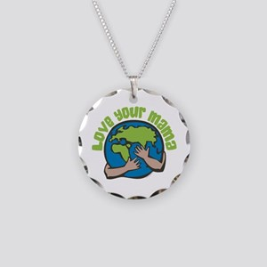 Love Your Mama Necklace Circle Charm