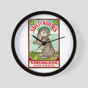 1930 Indian Platypus Antique Matchbox Label Wall C