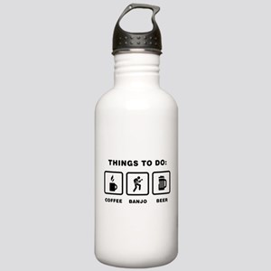 Banjo Player Stainless Water Bottle 1.0L