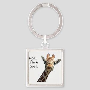 Moo Giraffe Goat Square Keychain