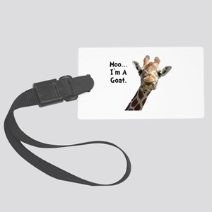 Moo Giraffe Goat Large Luggage Tag