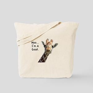 Moo Giraffe Goat Tote Bag