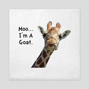 Moo Giraffe Goat Queen Duvet