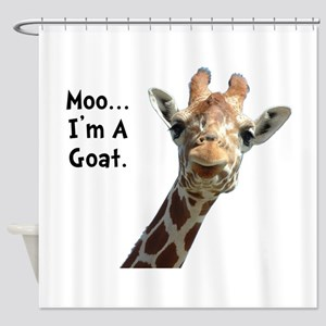 Moo Giraffe Goat Shower Curtain