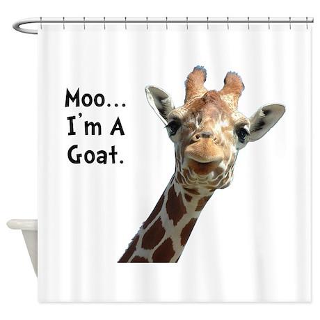 Moo Giraffe Goat Shower Curtain