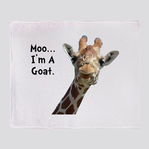 Moo Giraffe Goat Throw Blanket