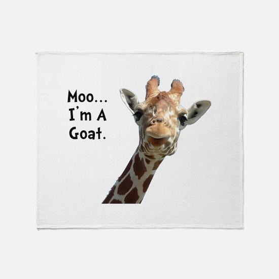 Moo Giraffe Goat Throw Blanket