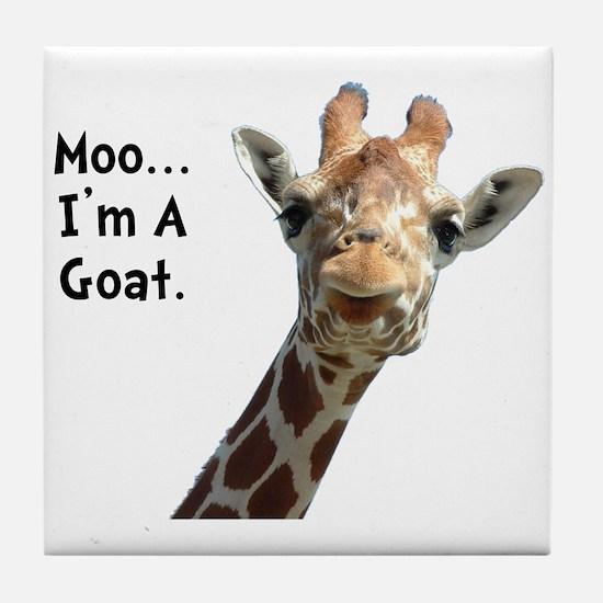Moo Giraffe Goat Tile Coaster