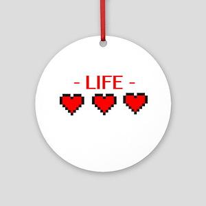 Life Hearts Ornament (Round)