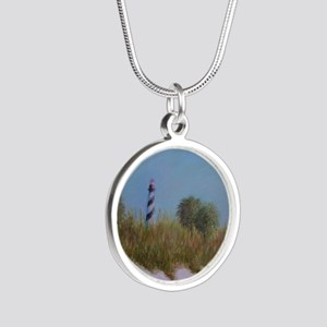 ST. AUGUSTINE LIGHTHOUSE VIEW Silver Round Necklac