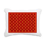 All In Orange Decor Rectangular Canvas Pillow