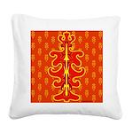 All In Orange Decor Square Canvas Pillow