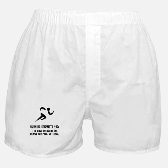 Running Etiquette Boxer Shorts