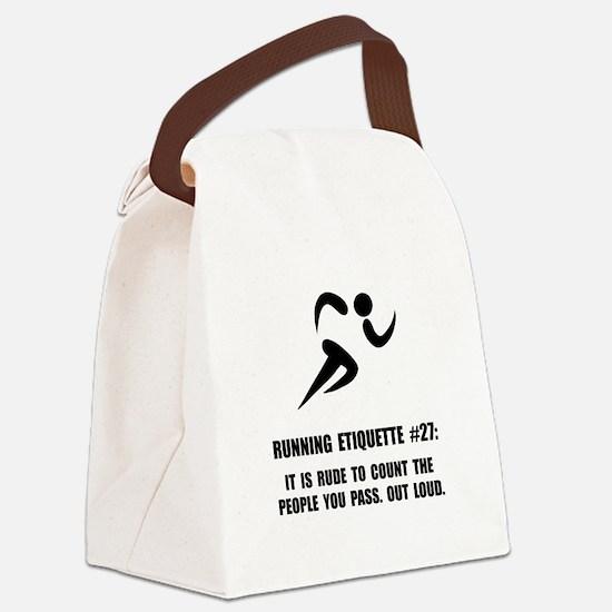 Running Etiquette Canvas Lunch Bag
