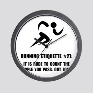 Running Etiquette Wall Clock