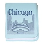 Chicago baby blanket