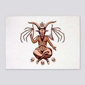Baphomet Graphic 5'x7'Area Rug