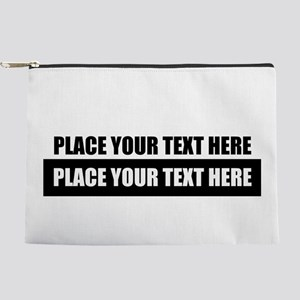 Text message Customized Makeup Pouch