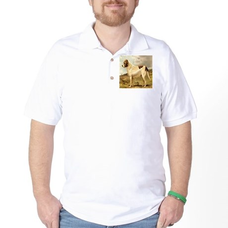 White St. Bernard 1880 Digita Golf Shirt
