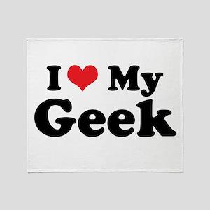 I Heart My Geek Throw Blanket