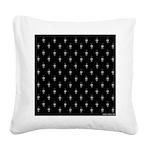 Black and White Decor Square Canvas Pillow