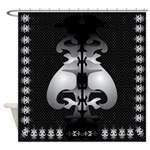 Black and White Decor Shower Curtain