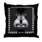 Black and White Decor Throw Pillow