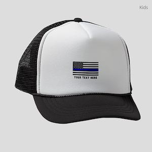 Thin Blue Line Kids Trucker hat