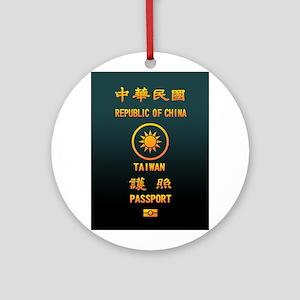 PASSPORT(TAIWAN) Ornament (Round)