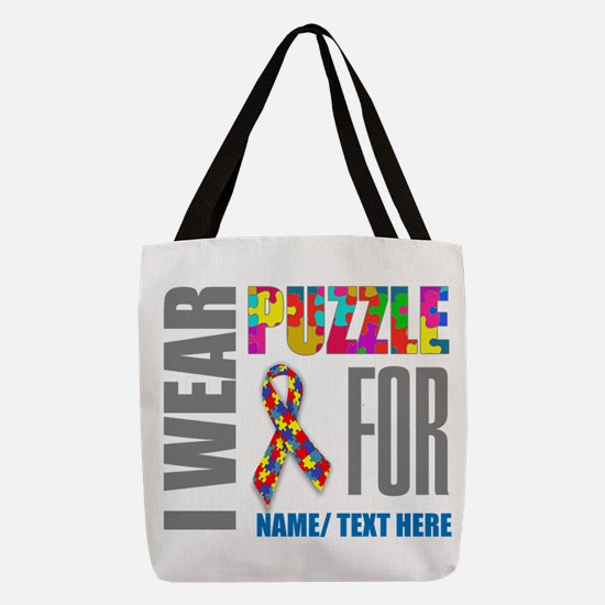 Autism Awareness Ribbon Polyester Tote Bag