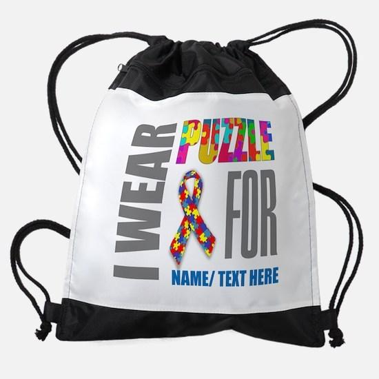 Autism Awareness Ribbon Drawstring Bag