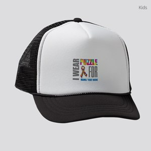 Autism Awareness Ribbon Kids Trucker hat