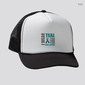 Teal Ribbon Awareness Customized Kids Trucker hat