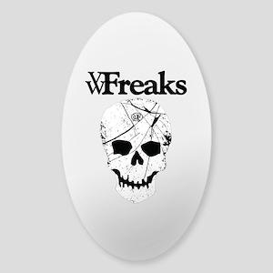 Das VW-Freaks Mascot - Branded Skull Sticker (Oval