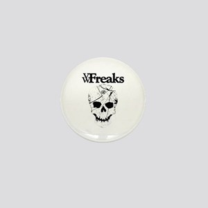 Das VW-Freaks Mascot - Branded Skull Mini Button
