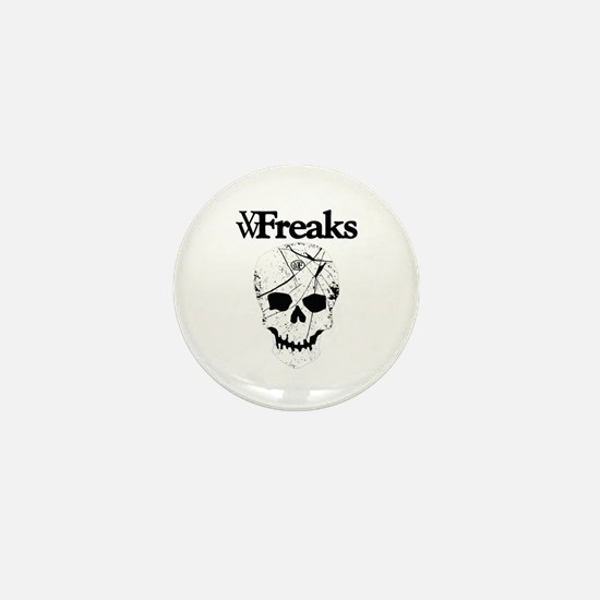 Das VW-Freaks Mascot - Branded Skull Mini Button