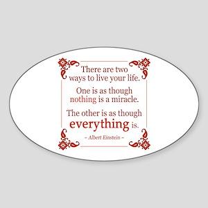 Einstein on Miracles Sticker (Oval)