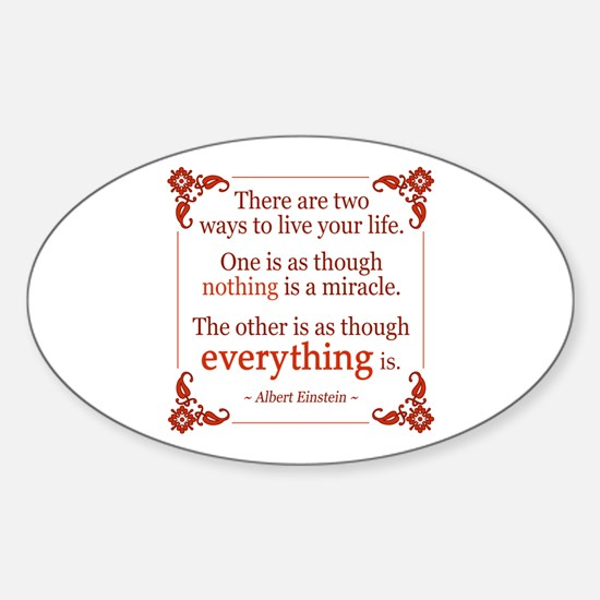Einstein on Miracles Sticker (Oval)