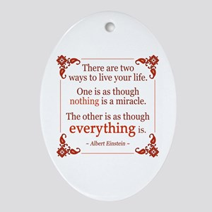 Einstein on Miracles Ornament (Oval)