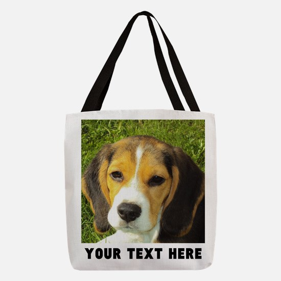 Dog Photo Personalized Polyester Tote Bag