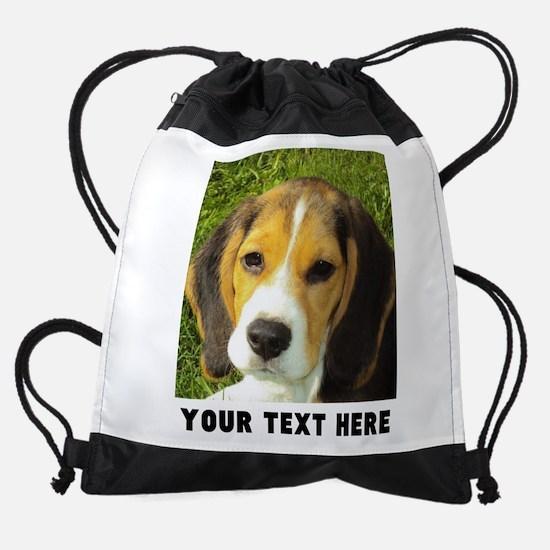 Dog Photo Personalized Drawstring Bag