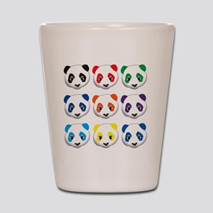 multi panda Shot Glass