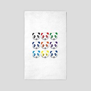 multi panda 3'x5' Area Rug