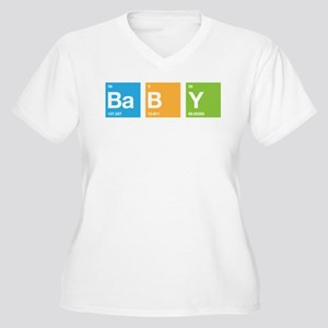 Periodic Table of Baby Women's Plus Size V-Neck T-