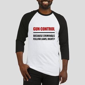 Gun Control Baseball Jersey
