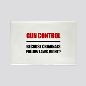 Gun Control Rectangle Magnet
