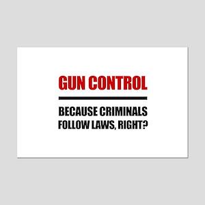 Gun Control Mini Poster Print