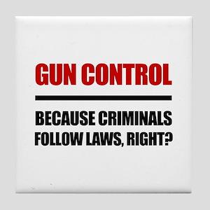 Gun Control Tile Coaster