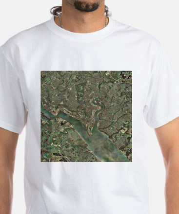 Southampton, UK, aerial photograph - White T-Shirt
