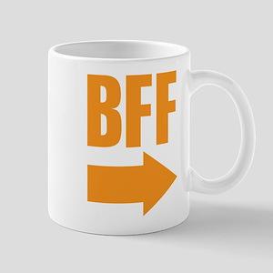 My BFF is on my left Mug